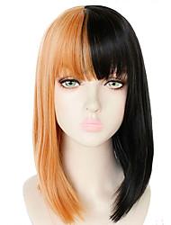 Недорогие -Sia Косплэй парики Жен. Прямая челка 14 дюймовый Термостойкое волокно Естественные прямые Желтый Желтый Аниме
