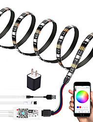 cheap -2m WIFI Control Kit Flexible LED Light Strips Light Sets RGB Tiktok Lights TV Background Lights 60 LEDs SMD5050 10mm 1 set Multi Color Waterproof APP Control USB US EU 5 V