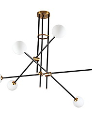 cheap -4-Light 15 cm Sputnik Design Pendant Light Basic Black Traditional / Classic 220-240V