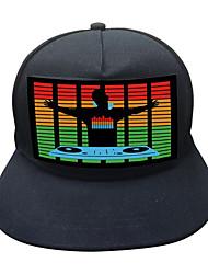 Недорогие -голосовое управление светодиодная шляпа светодиодный ночной светильник переносной / очаровательны / голосовое управление / ночной реквизит / предложение по предложению / свадьба / питание от батарей