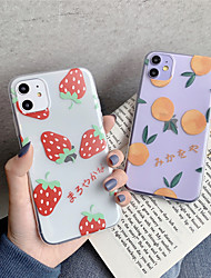 cheap -Case For Apple iPhone 11 11 Pro 11 Pro Max Fruit strawberry orange pattern TPU material painting process scratch-resistant mobile phone case