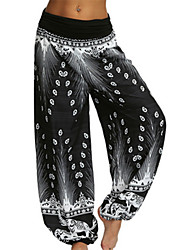 cheap -Women's Basic Oversized Bloomers Pants - Print White Black Blue S / M / L