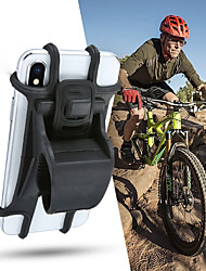 cheap -Silicone Bicycle Phone Holder Support For 4 - 6 inch Smartphone Holders Motorcycle Bike Handlebar Clip Stand GPS Mount Bracket4.7
