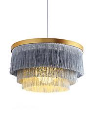 cheap -42 cm Single Design Pendant Light Metal Fabric Basic / Mini Electroplated Contemporary / Traditional / Classic Generic