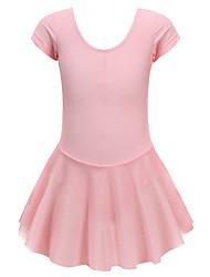 cheap -Ballet Dress Skirted Leotard Girls' Kids Skirt Mesh High Elasticity Quick Dry Breathable Handmade Short Sleeve Training Ballet Dance Athletic Gymnastics Light Pink / Spandex / Winter