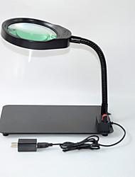 Недорогие -рабочий стол с увеличительным стеклом USB ремонт обнаружения пожилых чтения HD увеличительное стекло рабочий свет