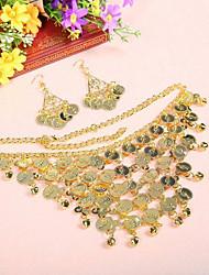 cheap -Women's Dancer Belly Dance Masquerade Oriental Alloy Golden Necklace Earring