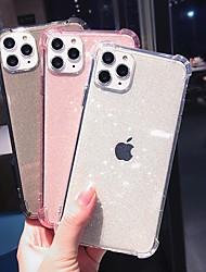 Недорогие -чехол для карты яблока сцены iphone 11 11 pro 11 pro max x xs xr xs max 8 чистый цвет блестящий полупрозрачный материал тпу четыре угла анти-падение, все включено чехол для мобильного телефона