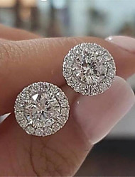 cheap -Women's Stud Earrings Geometrical Fashion Stylish Earrings Jewelry White For 1 Pair