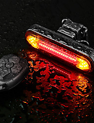cheap -LED Bike Light Rear Bike Tail Light LED Bicycle Cycling Super Bright Remote Control / RC Li-polymer 180 lm Rechargeable Battery Dual Light Source Color Cycling / Bike
