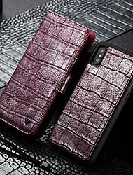 Недорогие -новый крокодил шаблон кошелек модный кожаный чехол для iphone xs / xr / xs max / x / 8 plus / 7 plus / 8/7 магнитный флип кошелек слот для карт памяти подставка чехол для телефона