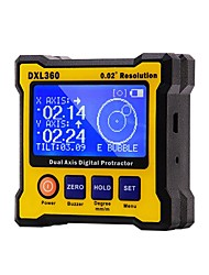 cheap -DXL360 Dual-axis Digital Display Level Gauge Angle Protractor Electronic Inclinometer Angle Meter Mini Level Magnetic Base Sale