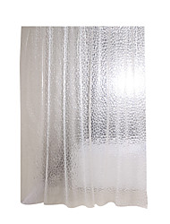 cheap -Mildew Resistant Antimicrobial PEVA Shower Curtain Liner Non Toxic, Eco Friendly, No Chemical Odor, Rust Proof Grommet 180x200 cm