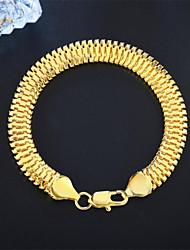 Недорогие -Браслеты-цепочки и звенья Классический Цветы Мода Медь Браслет Ювелирные изделия Золотой Назначение Вечерние Подарок