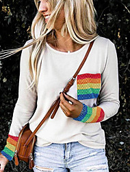 cheap -Women's Geometric Print T-shirt Daily White