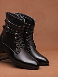 cheap -Men's PU Fall & Winter Boots Mid-Calf Boots Black