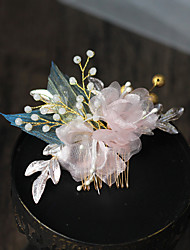 cheap -Pastoral Style Beads / Alloy Hair Combs / Hair Accessory with Floral 1 pc Wedding / Party / Evening Headpiece