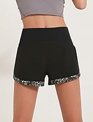 cheap -Women's Sporty Loose Shorts Pants - Print High Waist Black Blue Blushing Pink S / M / L