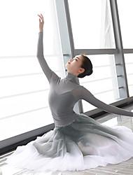 Недорогие -танцевальные костюмы нижняя часть / верхняя часть женская тренировочная / женская одежда с длинными рукавами