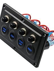 Недорогие -автомобильный переключатель dc12-24v / pn-1822 четырехзначная сенсорная панель / ip65 / с защитой от перегрузки / простота в эксплуатации / экологически чистый материал