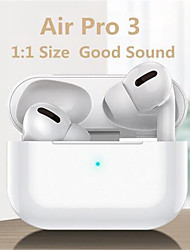 cheap -LITBest Air Pro 3 TWS True Wireless Earbuds for Premium Audio Stereo Bluetooth 5.0 Smart Touch Control Rename GPS 1 to 1 Replica Headphones