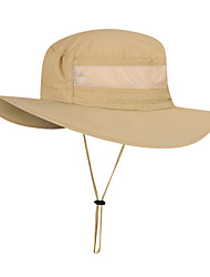 Недорогие -Рыбалка Шляпа Шляпа рыбака Шляпа для туризма и прогулок Кепка 1 ед. Компактность Защита от солнечных лучей Устойчивость к УФ Дышащий Сплошной цвет Нейлон Осень Весна Лето для Муж. Жен.