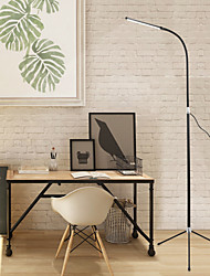 cheap -Dimmable Floor Lamp LED Tripod Eye Protection Adjustable Arm Simple Modern Contemporary Indoor Stay Home Office Bedroom Living Room DC 5V Black