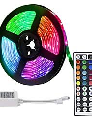 Недорогие -ZDM 5 м 300 x 2835 8 мм RGB светодиодные полосы свет гибкие и ИК-пульт дистанционного управления с возможностью смены цвета 44 ключа самоклеющиеся с изменением цвета