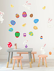 cheap -Easter Rabbit egg / Flowers Wall Stickers Plane Wall Stickers Decorative Wall Stickers PVC Home Decoration Wall Decal Wall / Window Decoration 1pc 27*97cm
