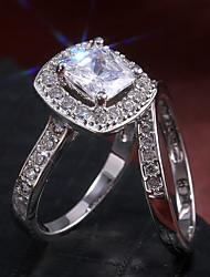levne -Pro páry Prsten Belle Ring Kubický zirkon 2pcs Zlatá Stříbrná Měď Pozlacené Nepravidelný Prohlášení Luxus Svatební Párty a večerní akce Šperky Geometrické Nositelný