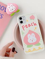 Недорогие -Кейс для Назначение Apple iPhone 11 / iPhone 11 Pro / iPhone 11 Pro Max Защита от удара / со стендом / С узором Кейс на заднюю панель Продукты питания / Животное / Мультипликация ПК