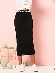 Недорогие -женская юбка с узором в виде буквы талии