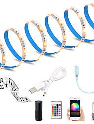 cheap -2M WiFi LED Light Strips RGB Tiktok Lights Intelligent Dimming Control TV Led Backlight Flexible Light Strip 60 x 5050 SMD 5V USB Interface