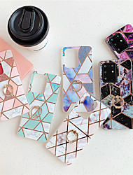 cheap -Phone Case for Samsung Galaxy S20 S20 Plus S20 Ultra A51 A71 Geometric stitching marble pattern bright surface material IMD process plating ring bracket all-inclusive mobile phon HJ3
