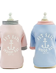cheap -Dog Shirt / T-Shirt Vest Quotes & Sayings Casual / Daily Dog Clothes Puppy Clothes Dog Outfits Pink Light Blue Costume for Girl and Boy Dog Cotton S M L XL XXL