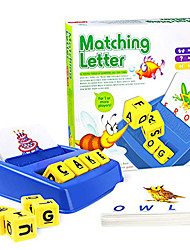 cheap -Matching Letter Game Picture Word Matching Game Educational Learning Games Educational Toy Letter Spelling Letter Reading Game Improve Memory Plastics Kids Preschool Kindergarten 3 years+