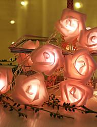 cheap -1M 10Led AA Battery Warm White LED Rose Christmas Lights Holiday String Lights Valentine Wedding Decoration Flower Bulbs LED Lamp