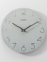 cheap -Modern minimalist silent fashion wall clock wooden clock 30x30cm