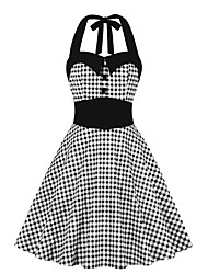 cheap -Women's A Line Dress - Sleeveless Print Crew Neck Black S M L XL XXL