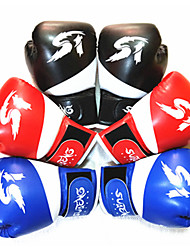cheap -Boxing Gloves For Martial Arts Muay Thai MMA Kickboxing Full Finger Gloves Durable Shock Absorption Breathable Shockproof Kids Women's Men's - Black Red Blue