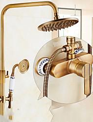 Недорогие -Lightinthrbox Душевые смесители Sprinkle® - Античный Латунь Датчик / Водопад / Широко распространенный Одной ручкой одно отверстие