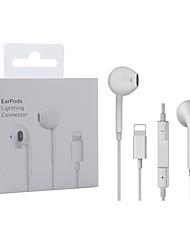 Недорогие -Освещение Наушники с микрофоном Проводные стереонаушники для Apple iphone 8 7 plus x xs max xr Ipod Проводные наушники Lightning