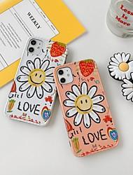 Недорогие -Кейс для Назначение Apple iPhone 11 / iPhone 11 Pro / iPhone 11 Pro Max со стендом / IMD / Ультратонкий Кейс на заднюю панель Слова / выражения / Мультипликация / Цветы ПК