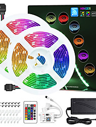 cheap -ZDM 2 X 5M WIFI Smart LED Strip Lights Kit RGB Tiktok Lights 5050 Tape Light Work with Alexa Google Home WiFi Wireless Smart Phone Controlled LED Set 32.8ft 300 LEDs Rope Light 12V 6A Power Supply