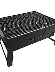 cheap -Manufacturer Thick Folding Barbecue Grill Barbecue Outdoor Portable Barbecue Household Charcoal Carbon Grill BBQ