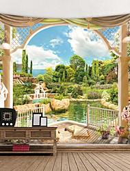 Недорогие -Сад Scener за окном печатный гобелен декоративные мандалы гобелен индийский декор дома большой хиппи на стене одеяло