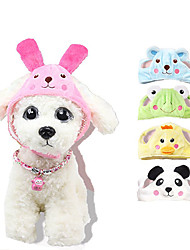 cheap -Dog Ornaments Hats, Caps & Bandanas Cartoon Bear Casual / Daily Headpieces Dog Clothes Fuchsia Blue Costume Net Cotton S L