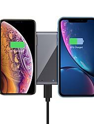 Недорогие -15/10 / 7,5 / 5 Вт беспроводное зарядное устройство USB зарядное устройство USB светодиодные фонари / с кабелем / мульти-выход 1 порт USB 2 A / 1 A / 1,2 A DC 12 В / DC 9 В / DC 5 В для iphone 11 /