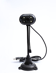 cheap -LITBest CZ0004 USB 2.0 Webcam with Microphone 300 Megapixel Megapixel HD 4 Light-emitting Diode No Drive Webcam Computer Video Conferencing Network Learning Camera