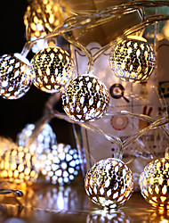 cheap -AA Battery String Lights LED Moroccan Garden String Lights Hanging Lantern Fairy Light Outdoor Christmas Decoration Light Chain
